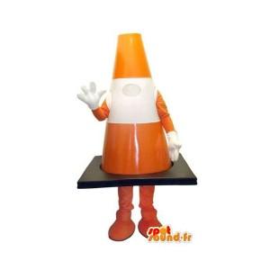 mascotte-de-plot-orange-et-blanc-de-taille-géante